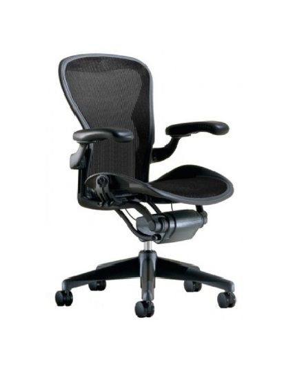 Herman Miller Aeron Chair, Size B, Fully Adjustable Arms, Tilt Limiter