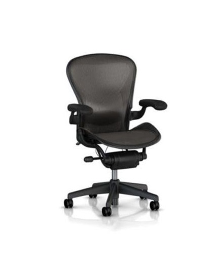 Herman Miller Aeron Chair, Size B, Fully Adjustable Arms, Tilt Limiter, Adjustable Lumbar Support