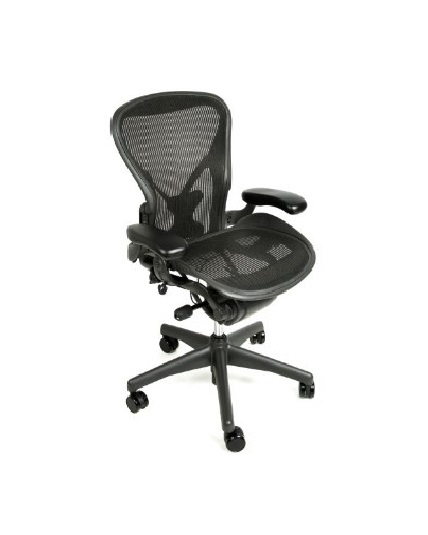 Herman Miller Aeron Chair, Size B, Fully Adjustable Arms, Tilt Limiter, Adjustable Posturefit