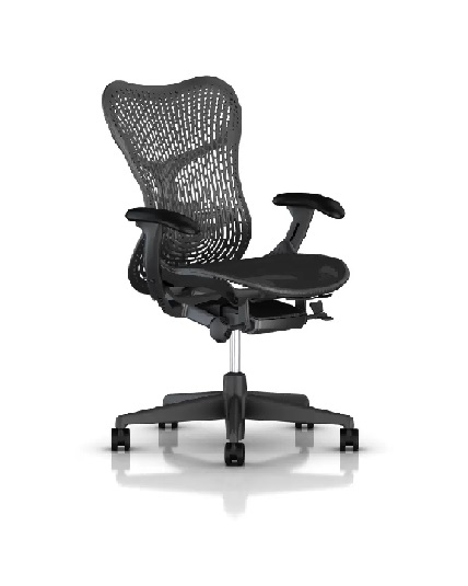 Herman Miller Mirra 2 Chair, Fully Adjustable Arms, Tilt Limiter, Adjustable Lumbar Support