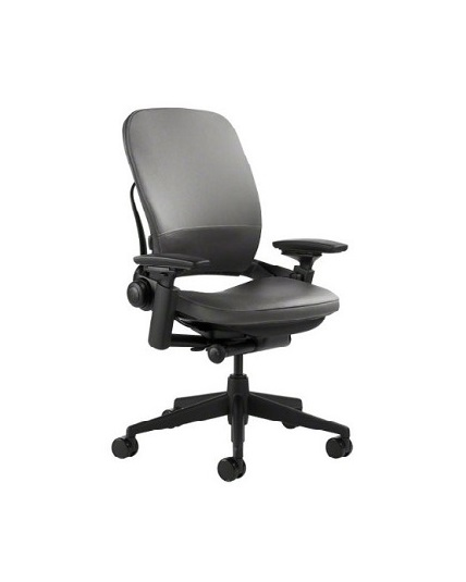 Steelcase Leap Version 2 Chair, 4-way Adjustable Arms, Leather