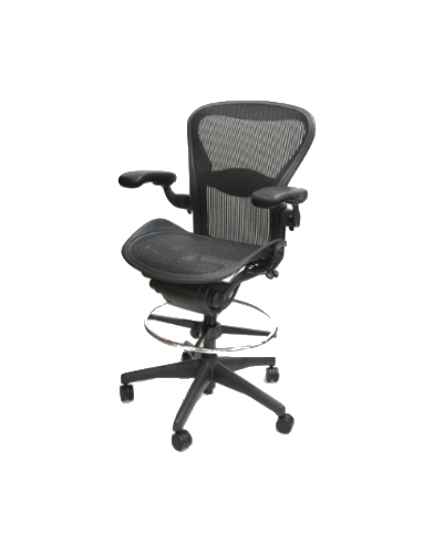new styles 9bc09 7229e Herman Miller Aeron Stool, Size B, All Features, Fully Adjustable Arms,  Tilt Limiter and Seat Angle, Adjustable Lumbar Support