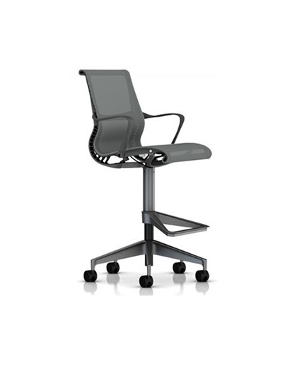 Herman Miller Setu Stool Ribbon Arms Office Chair Work
