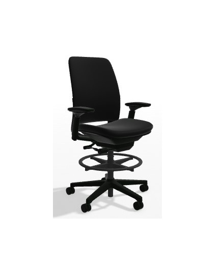 Steelcase Amia Stool All Features 4 Way Adjustable Arms