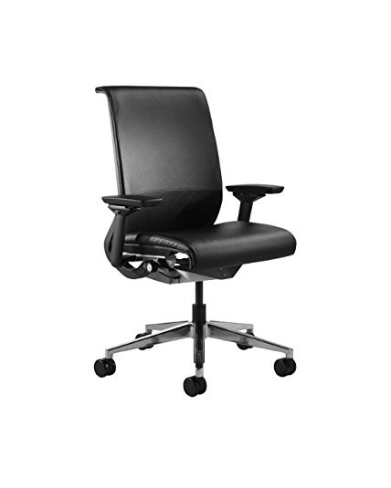 steelcase think chair leather all features 4 way. Black Bedroom Furniture Sets. Home Design Ideas
