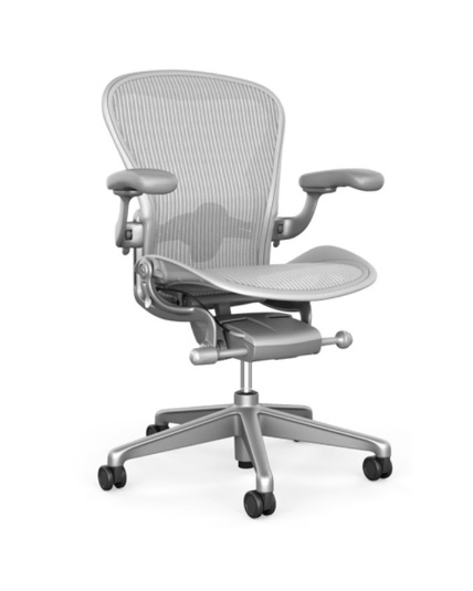 Astonishing Herman Miller Aeron Chair Size A Mineral Adjustable Arms Adjustable Lumbar Support V2 Brand New Ocoug Best Dining Table And Chair Ideas Images Ocougorg