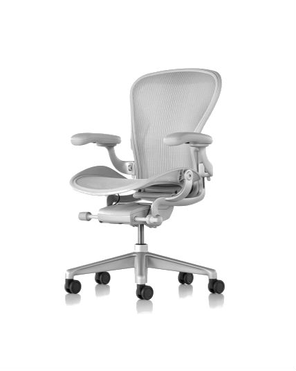 Herman Miller Aeron Remastered Chair Size B Mineral Fully