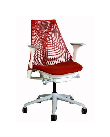 Miraculous Herman Miller Sayl Chair White Gray Red Back And Seat Adjustable Ocoug Best Dining Table And Chair Ideas Images Ocougorg