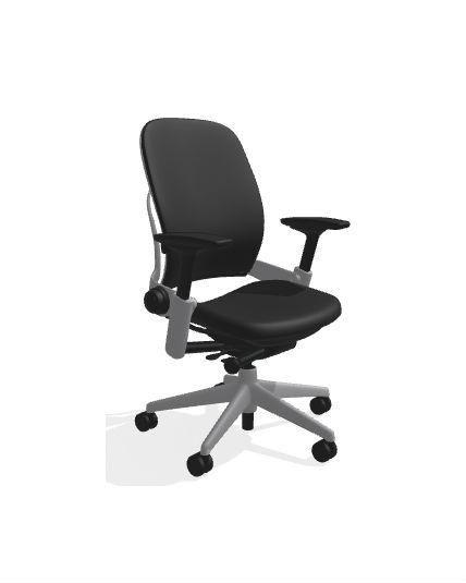 steelcase leap v2 black titanium - Steelcase Leap Chair