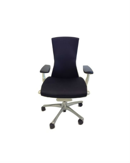 herman miller embody chair dark blue all features polished aluminum base office chair work. Black Bedroom Furniture Sets. Home Design Ideas