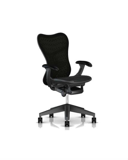 Herman Miller Mirra 2 Chair Black Butterfly Back Adjustable Arms