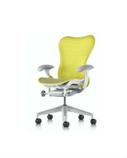 newest 4edb2 741da Discounted Herman Miller Mirra 2 Chair, Lime Butterfly Back, All Features,  Adjustable Lumbar Support