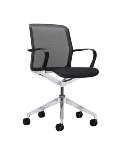 Astounding Keilhauer Filo Chair Mesh Back Fabric Seat Polished Aluminum Frame Caraccident5 Cool Chair Designs And Ideas Caraccident5Info
