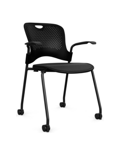 finest selection 90d09 52775 Herman Miller Caper Stacking Chair, Flex Seat, Casters