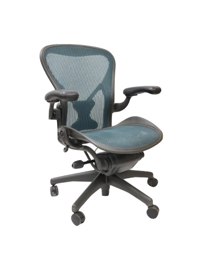 Superb Herman Miller Aeron Chair Jade Green Size B All Features Adjustable Posturefit Ocoug Best Dining Table And Chair Ideas Images Ocougorg